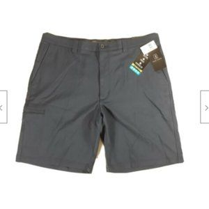 PGA Tour Mens 38 Flat Front Navy Blue Golf Shorts